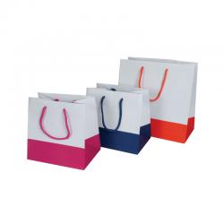 sacs papier blancs base couleur