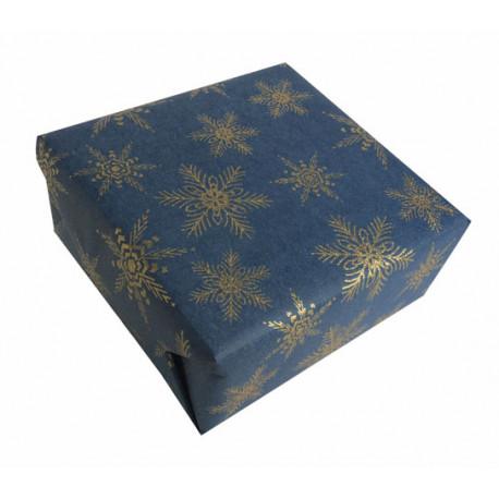 Papier cadeau à flocons pailletés luxe