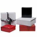 Boîtes cadeaux aimantées pelliculées brillantes