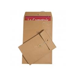 Enveloppes rondelles et ficelle