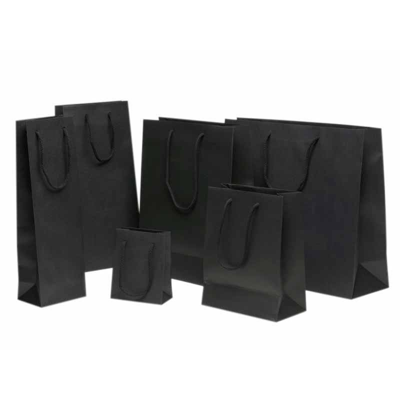sac en papier noir comptoir de l 39 emballage. Black Bedroom Furniture Sets. Home Design Ideas