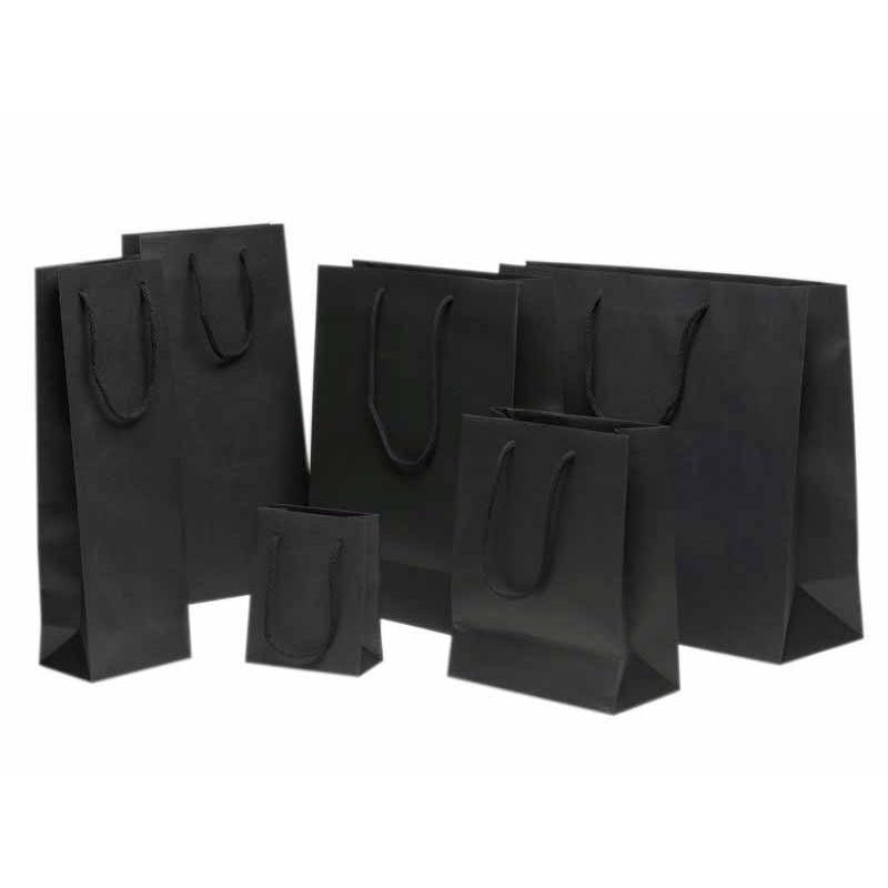 sac en papier noir comptoir de l 39 emballage. Black Bedroom Furniture Sets. Home Design Ideas