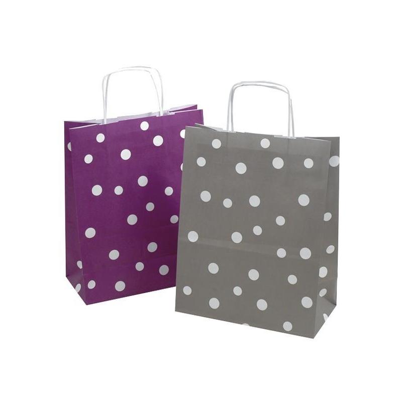 sacs en papier kraft pois comptoir de l 39 emballage. Black Bedroom Furniture Sets. Home Design Ideas