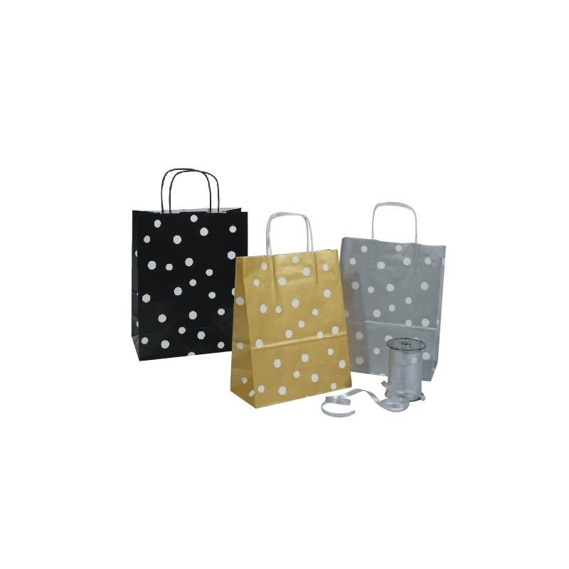 sacs en papier couch pois comptoir de l 39 emballage. Black Bedroom Furniture Sets. Home Design Ideas