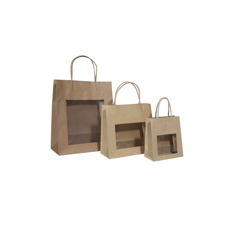 Sacs en papier kraft brun fen tre comptoir de l 39 emballage for Sac kraft fenetre
