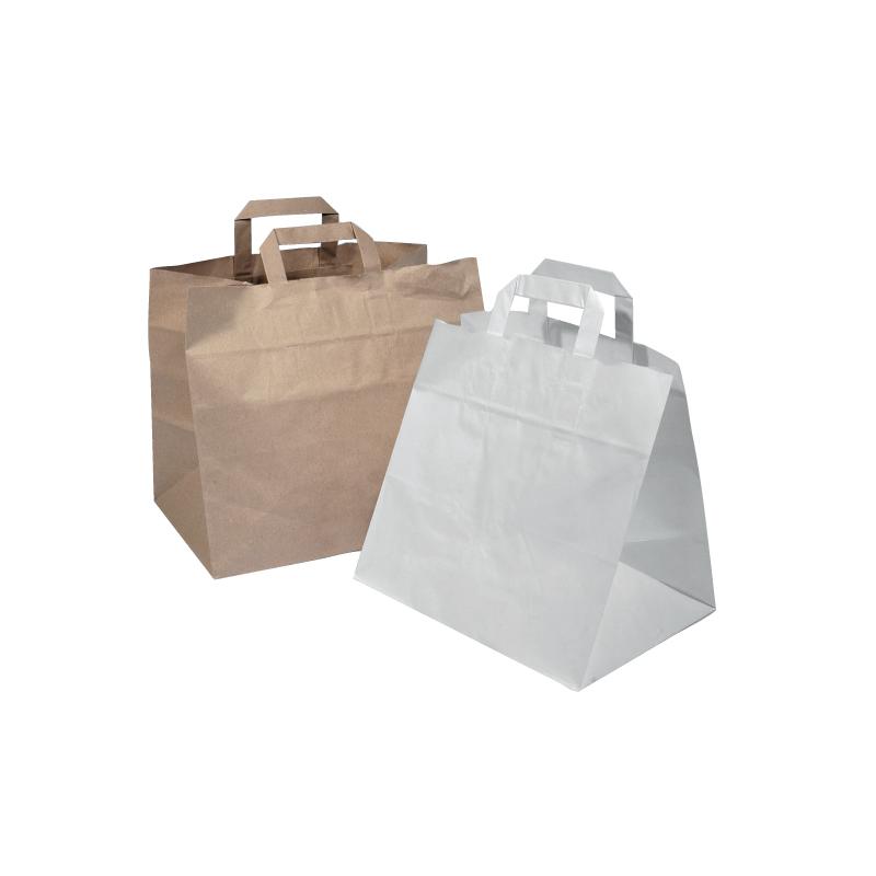 Ou Trouver Des Sacs Kraft : Sacs papier kraft poign?es plates sp?cial traiteur