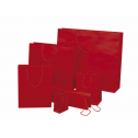 Sacs rouges pelliculés mat