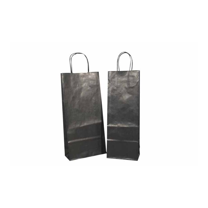 sacs bouteille en kraft noirs comptoir de l 39 emballage. Black Bedroom Furniture Sets. Home Design Ideas