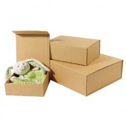 Boîtes cadeaux aimantées kraft naturel