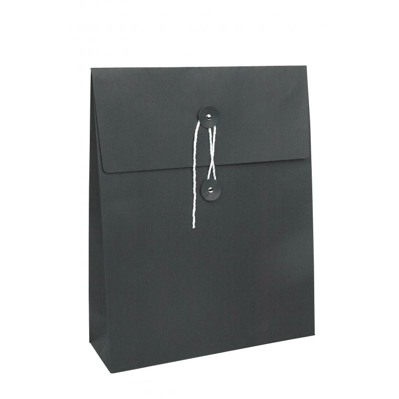 pochette sac en papier noir comptoir de l 39 emballage. Black Bedroom Furniture Sets. Home Design Ideas