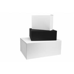Boîtes cadeaux aimantées mates noires et blanches