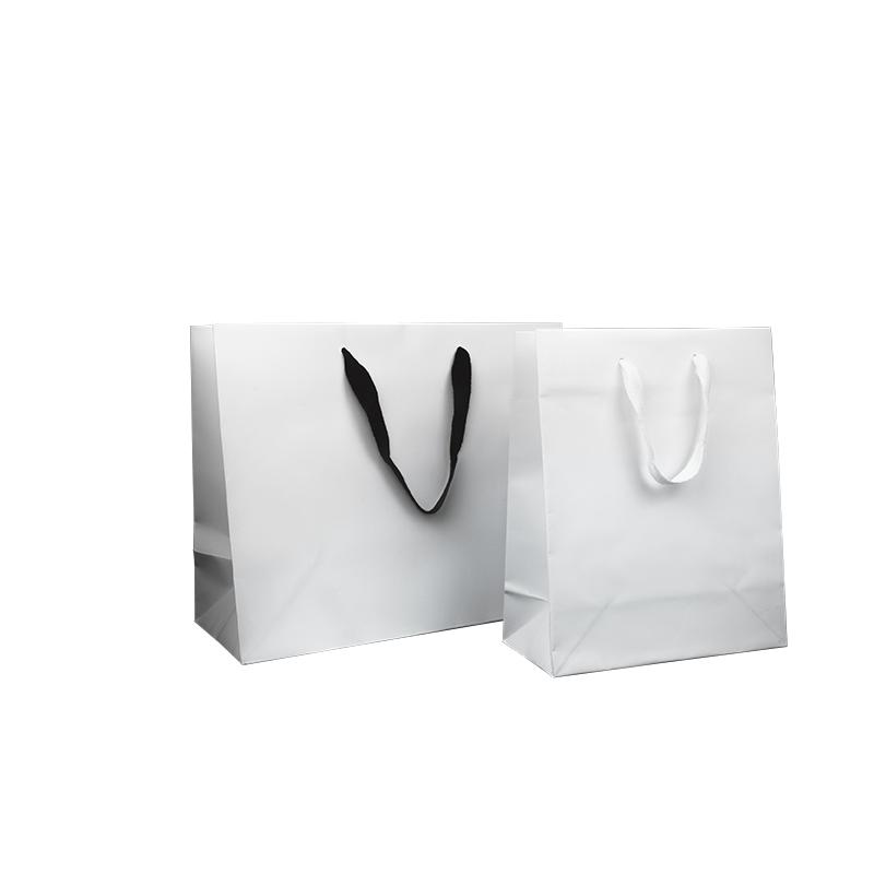 Sacs en papier blanc pelliculage mat- Comptoir de l Emballage 7389df885d2e