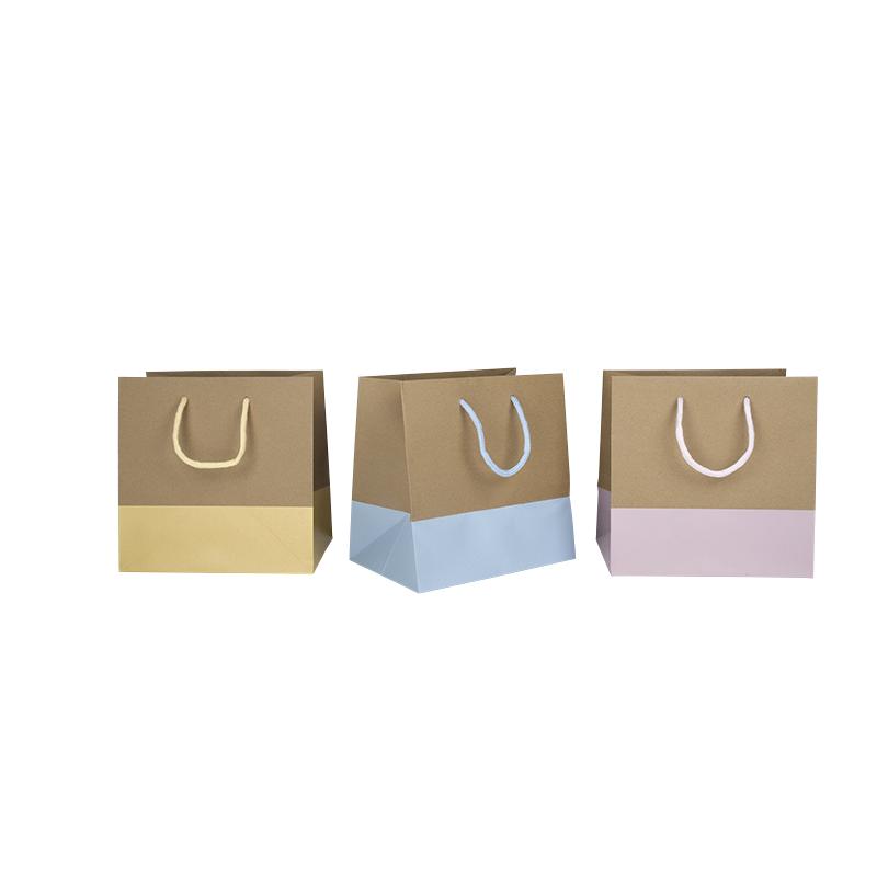 sac kraft base pastel comptoir de l 39 emballage. Black Bedroom Furniture Sets. Home Design Ideas