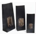 Pochettes kraft noires à fenêtre