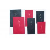 Enveloppes rondelles et ficelle de couleur