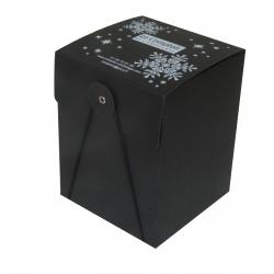 Boite cadeau rondelle et élastique personnalisée