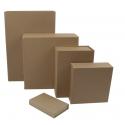Boîtes carton cadeaux aimantées kraft naturel