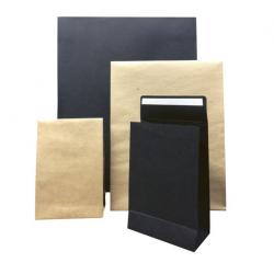 Pochettes cadeaux kraft et noires