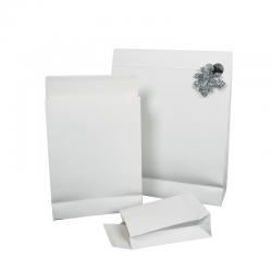 Pochettes cadeaux blanches pelliculées mat