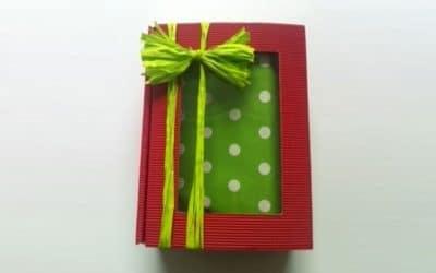Emballage cadeau vert