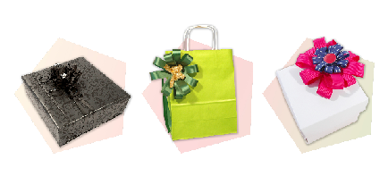 noeud, papier cadeau, emballage cadeau