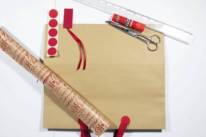 Réaliser soi-même un emballage cadeau pour Noel