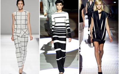 défilé mode noir et blanc