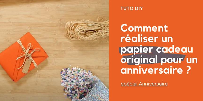 Comment réaliser un papier cadeau original pour un anniversaire ?